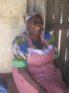 Kenyan lady laughing